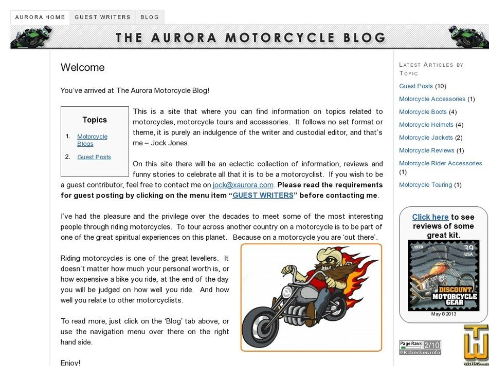 xaurora.com Screenshot