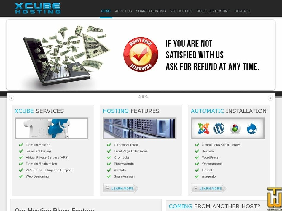 xcubehosting.com Screenshot