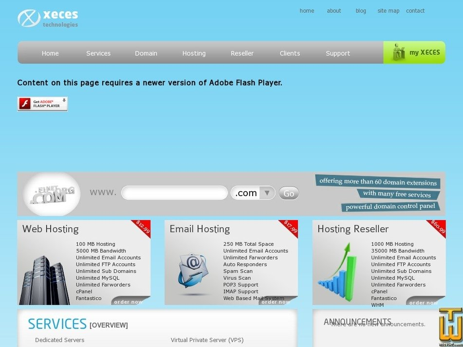 xeces.com Screenshot