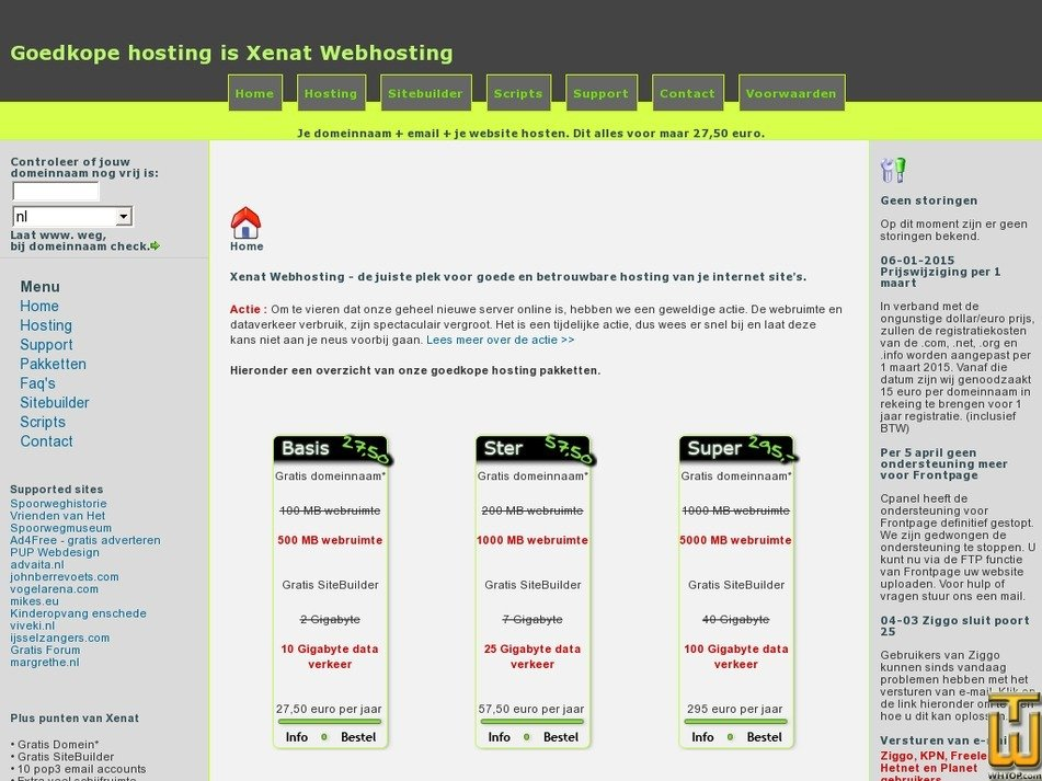 xenat.nl Screenshot