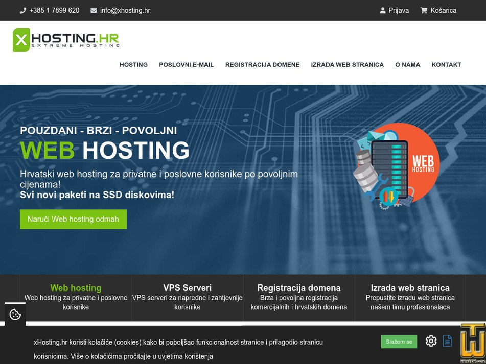 xhosting.hr Screenshot