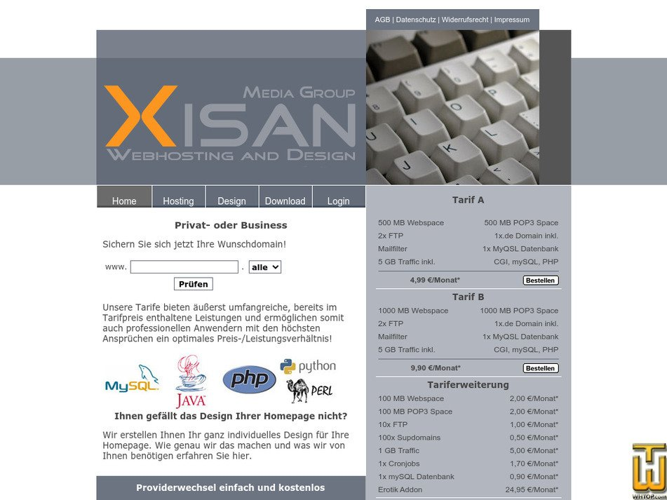 xisan.de Screenshot