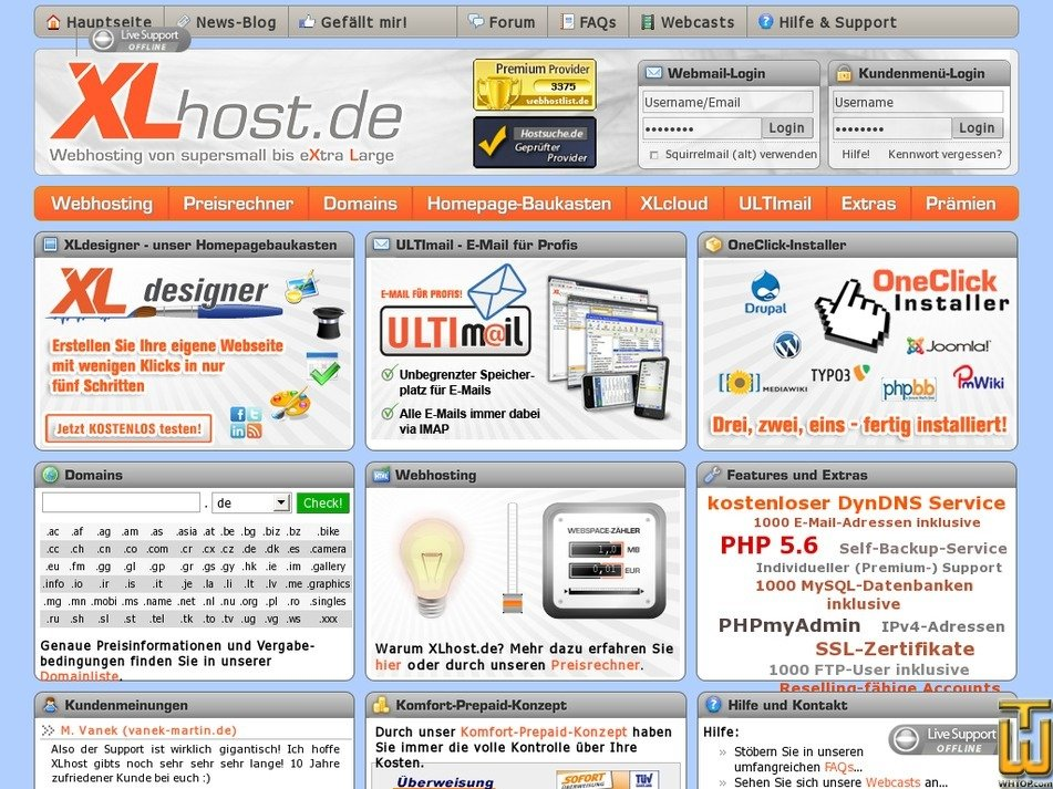 xlhost.de Screenshot