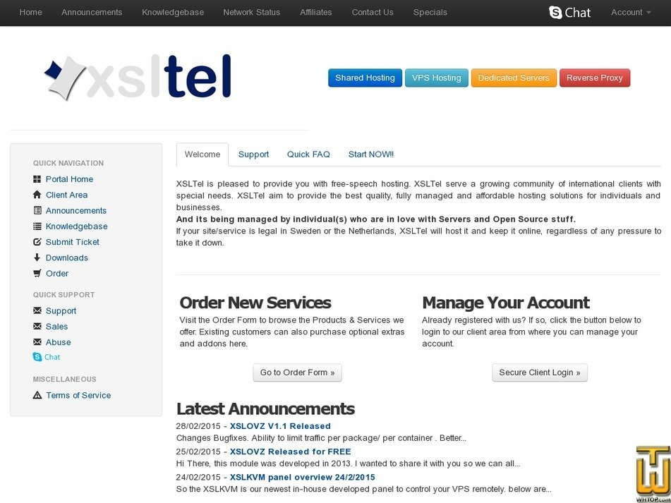 xsltel.com Screenshot