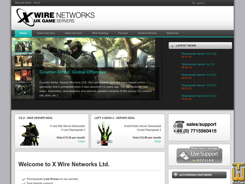 xwirenetworks.com Screenshot