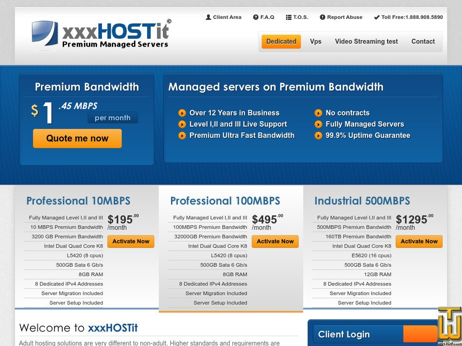 xxxhostit.com Screenshot