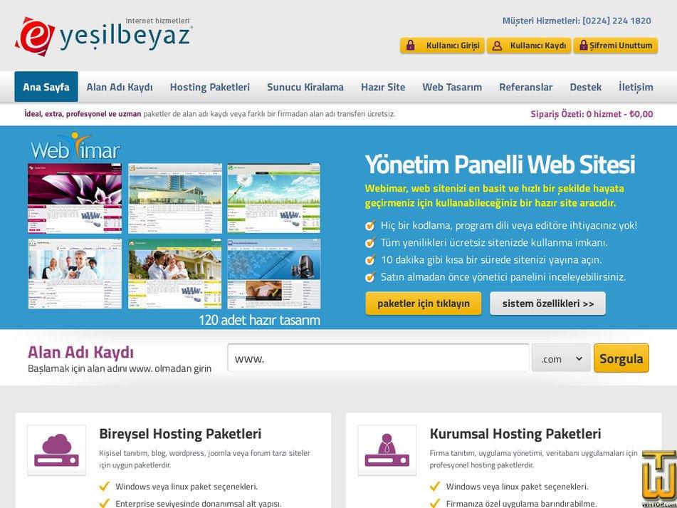 yesilbeyaz.com.tr Screenshot