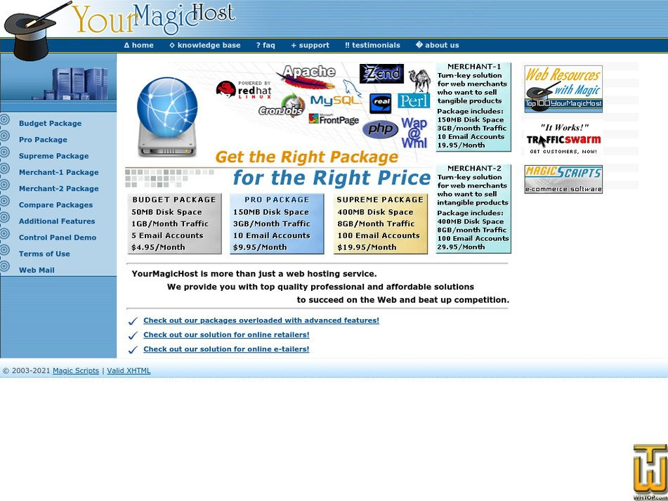 yourmagichost.com Screenshot