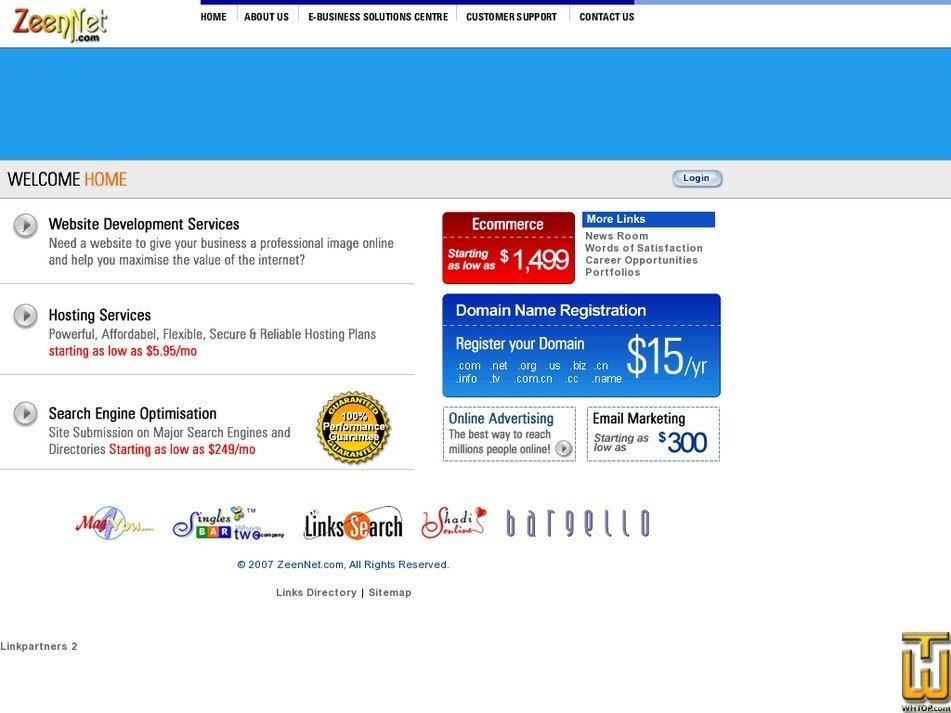 zeennet.com Screenshot