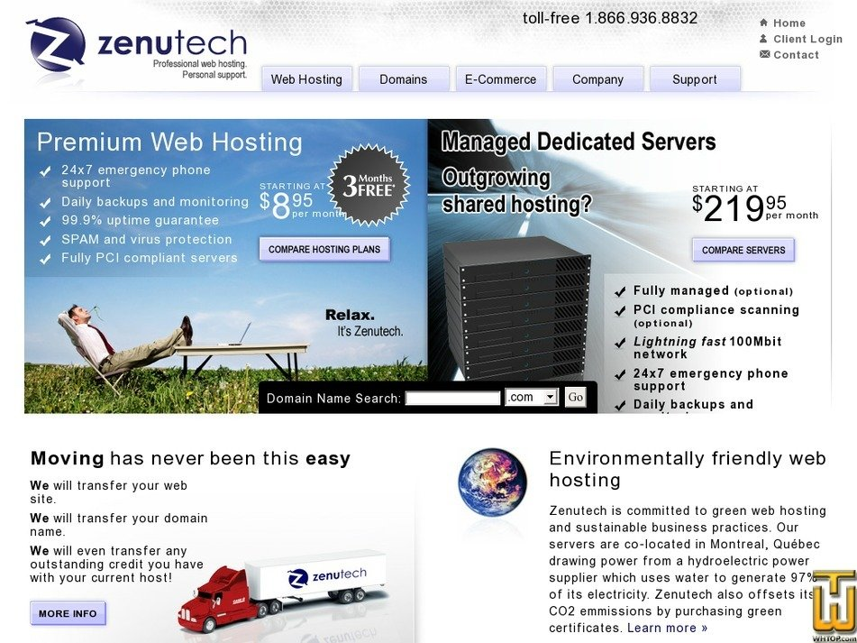 zenutech.ca Screenshot