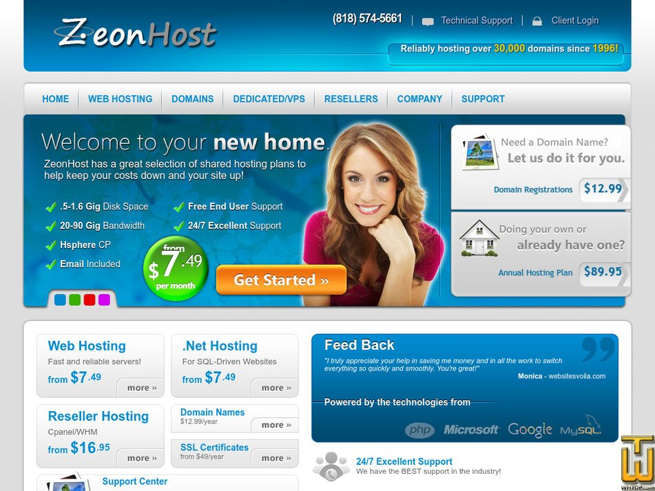 zeonhost.com Screenshot