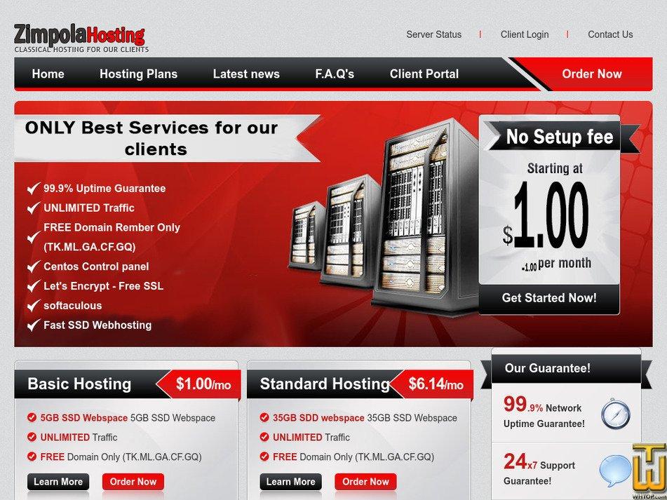 zimpolahosting.com Screenshot