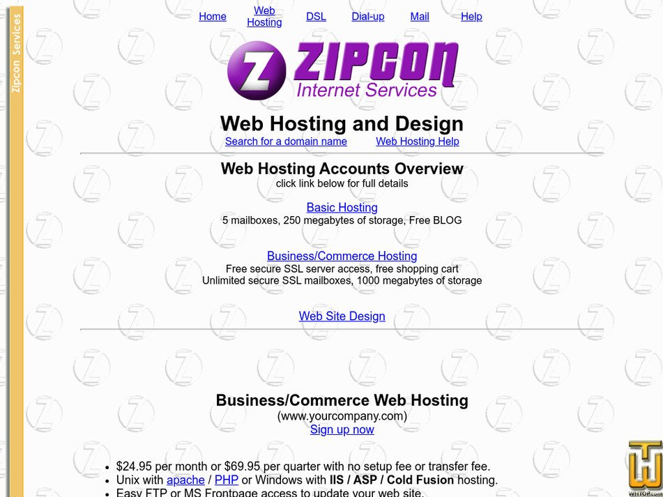 zipcon.net Screenshot