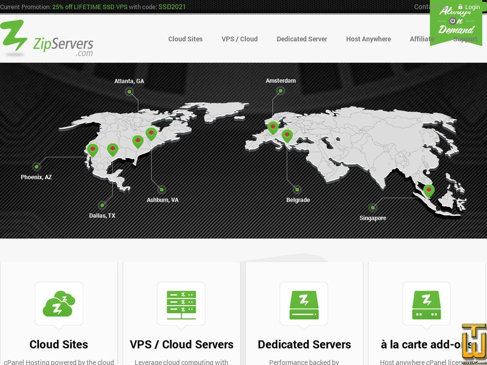 zipservers.com Screenshot