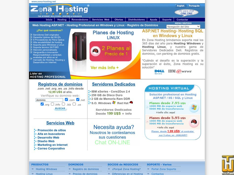 zona-hosting.net Screenshot