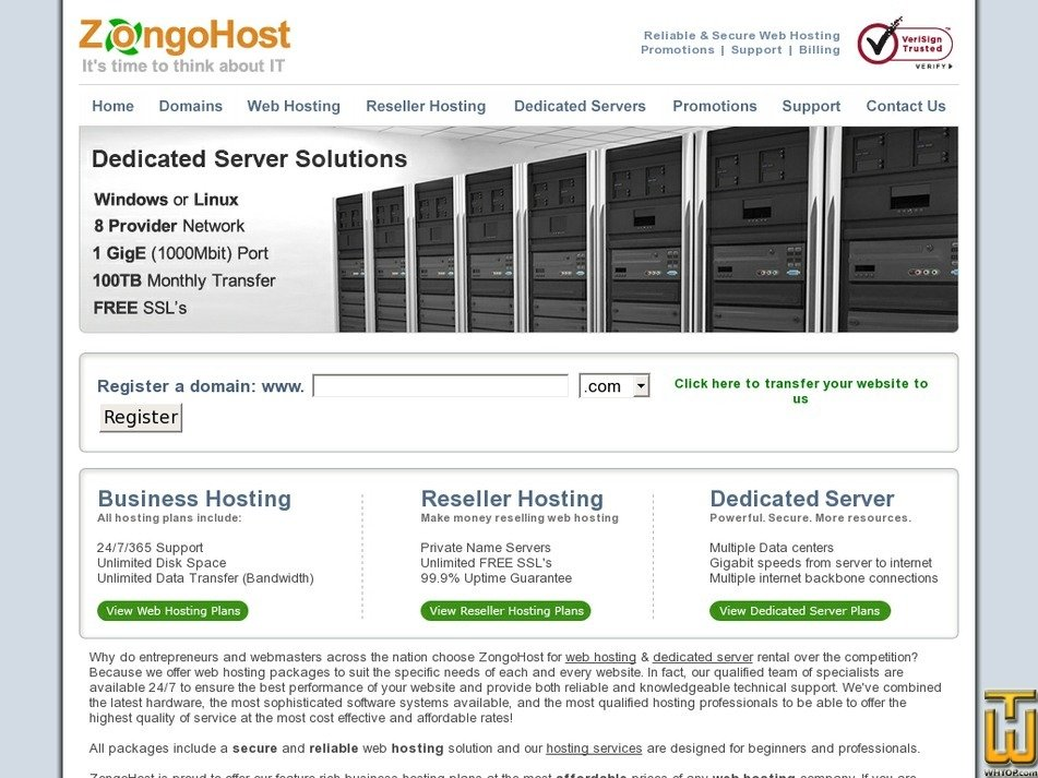 zongohost.com Screenshot