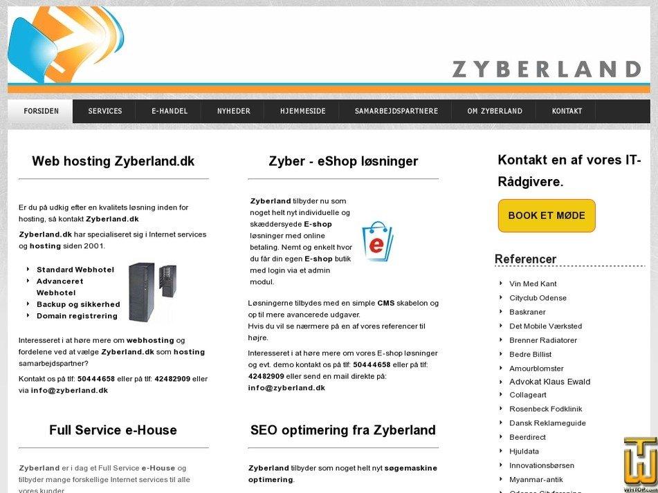 zyberland.dk Screenshot