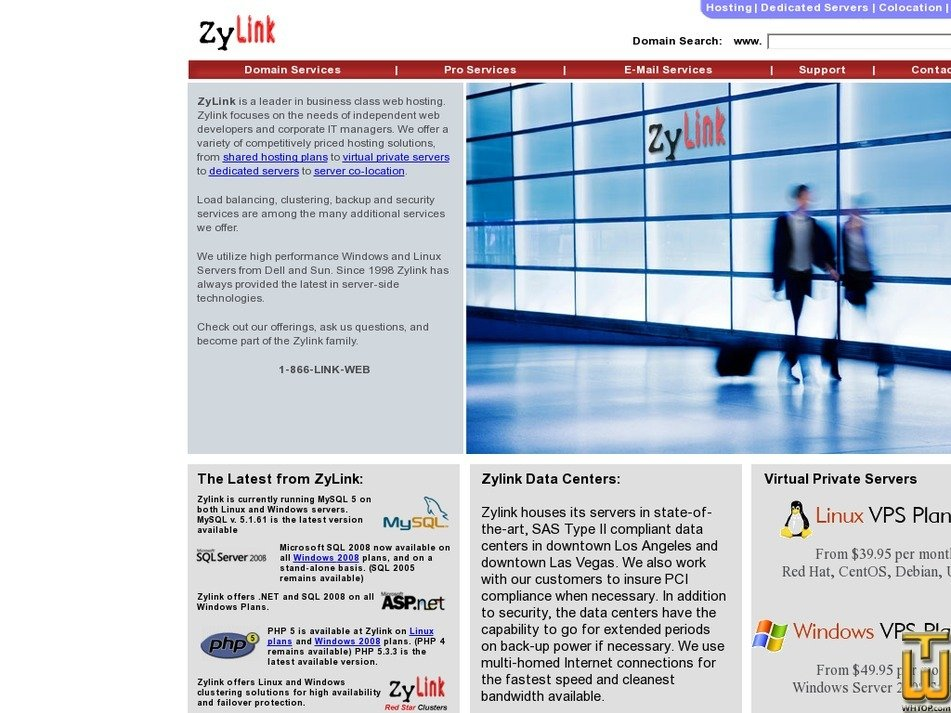 zylink.net Screenshot