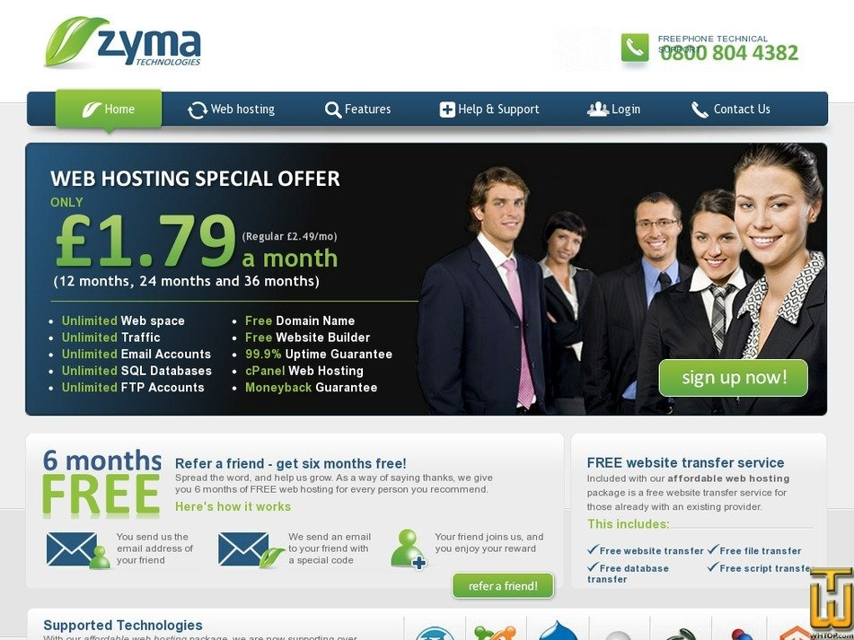 zyma.com Screenshot