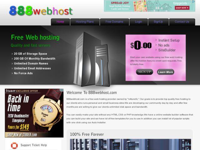 888webhost.com Cover