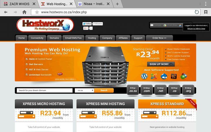 hostworx.co.za Cover