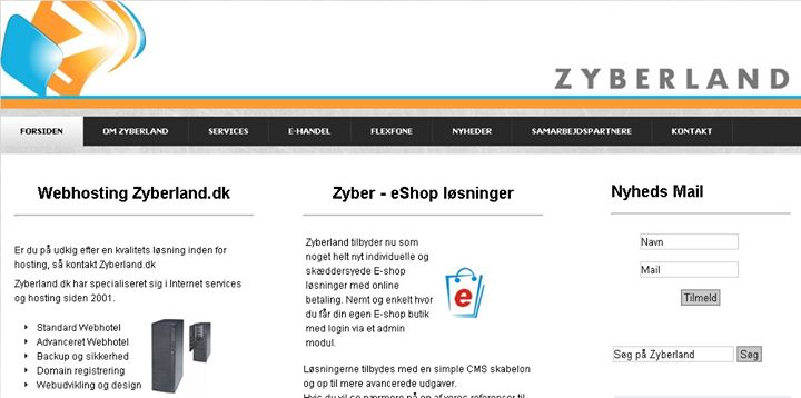 zyberland.dk Cover