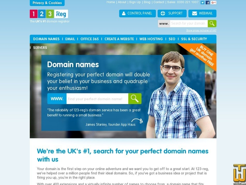 Screenshot of .com from 123-reg.co.uk