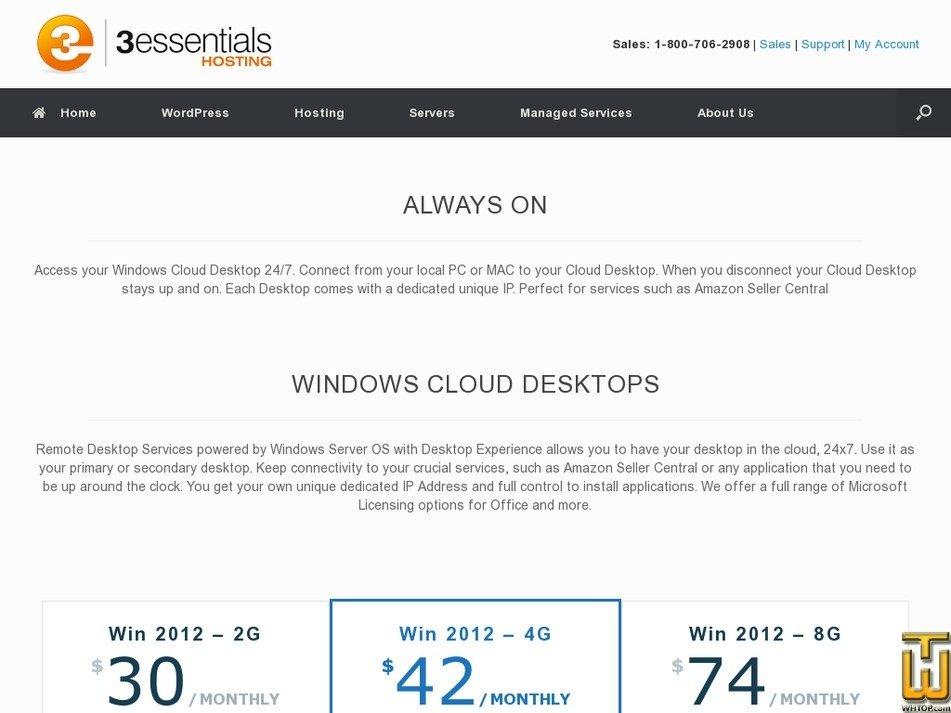 Screenshot of Win 2012 – 2G from 3essentials.com