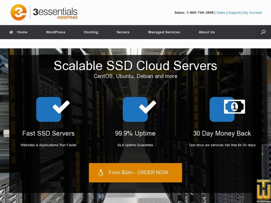 Screenshot of Cloud 5 from 3essentials.com