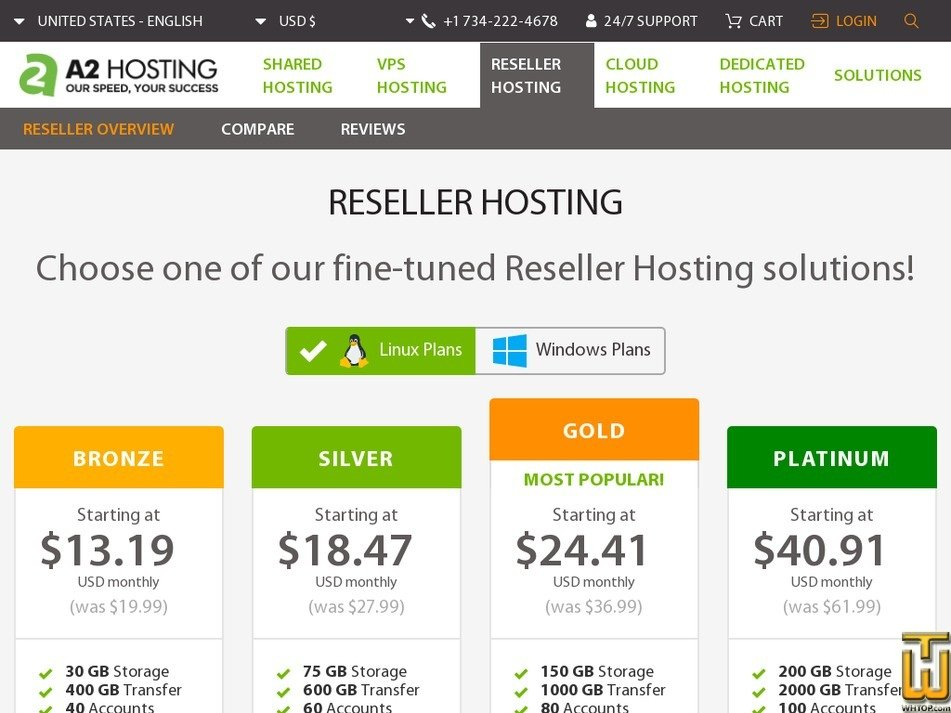 Screenshot of Silver from a2hosting.com