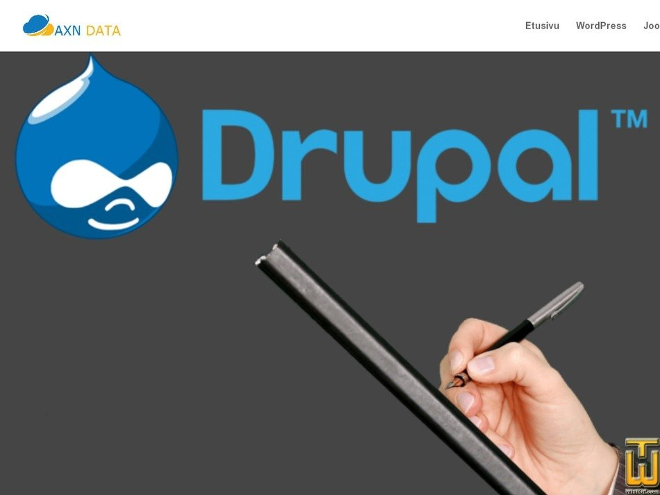 Screenshot of Drupal from axndata.fi