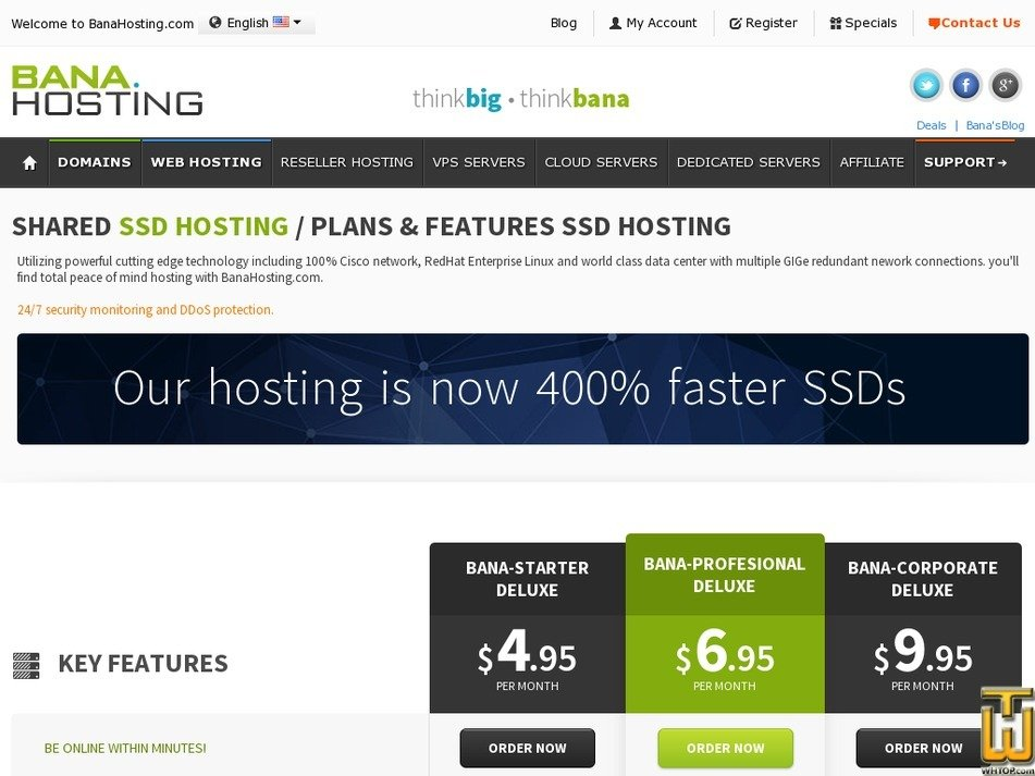 Screenshot of Bana-Starter Deluxe from banahosting.com