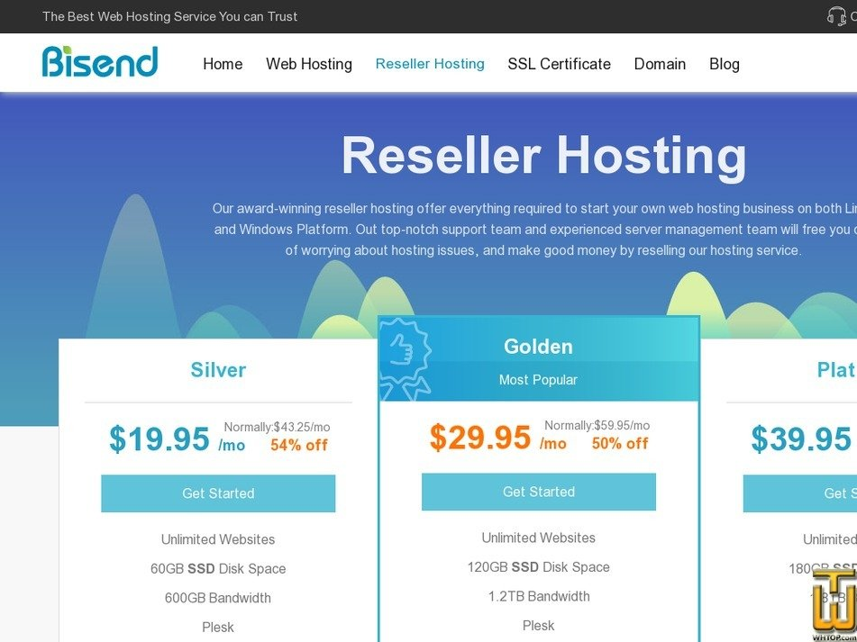 Screenshot of Platinum from bisend.com