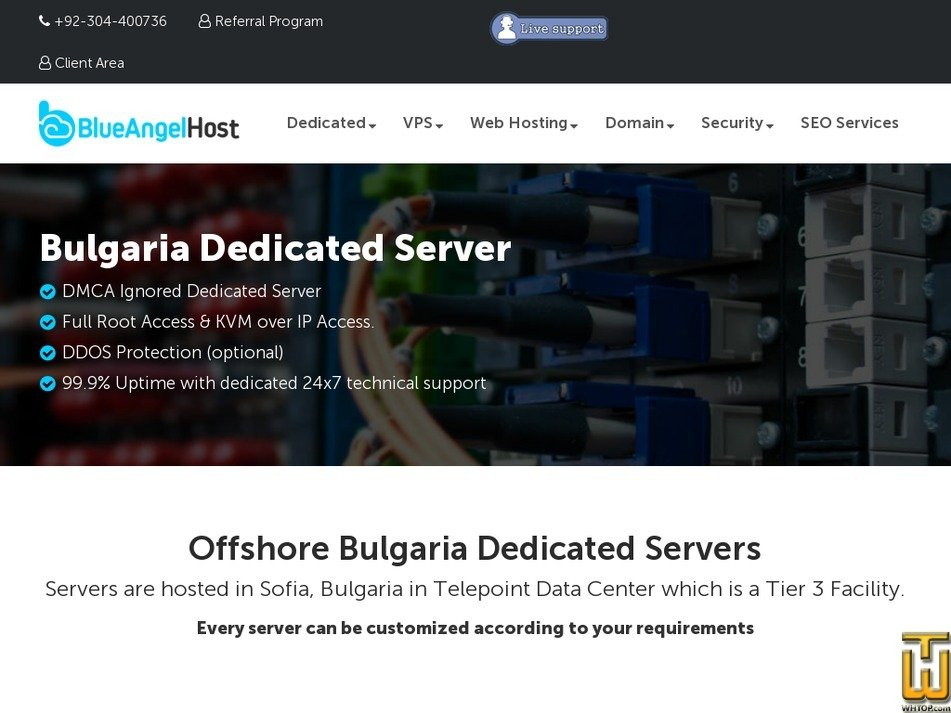 Screenshot of Bulgaria 1 from blueangelhost.com