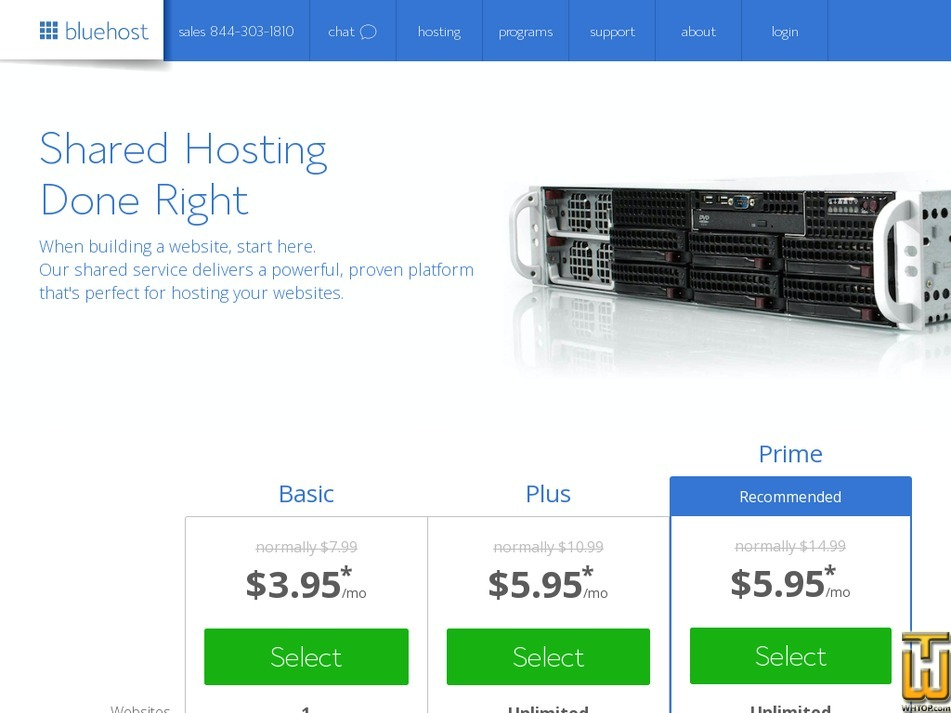 Screenshot of Pro from bluehost.com