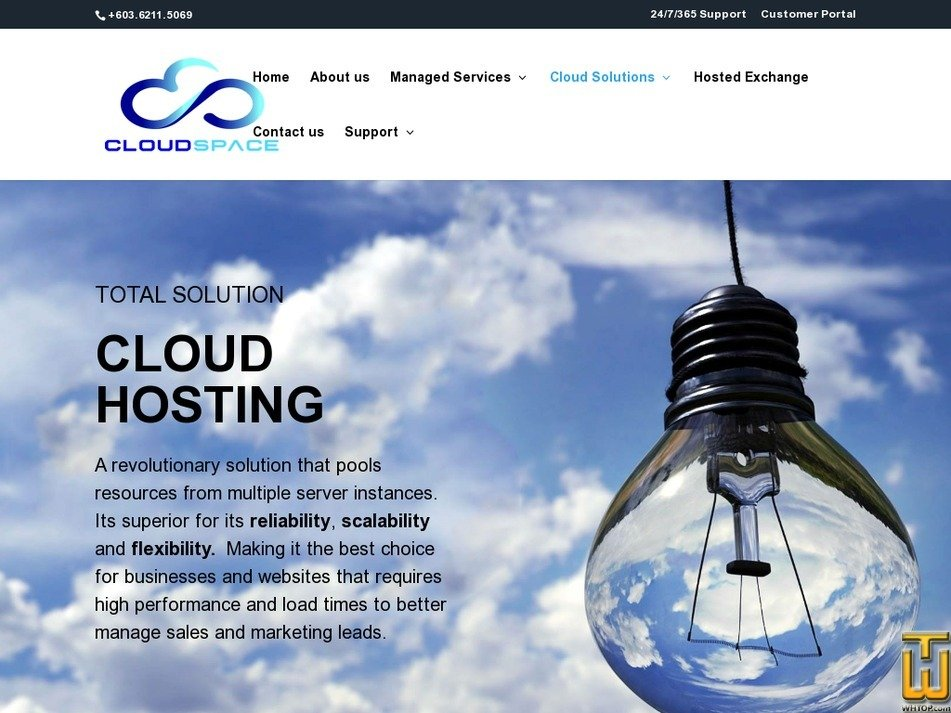 Screenshot of Cloud S2 from cloudspace.com.my