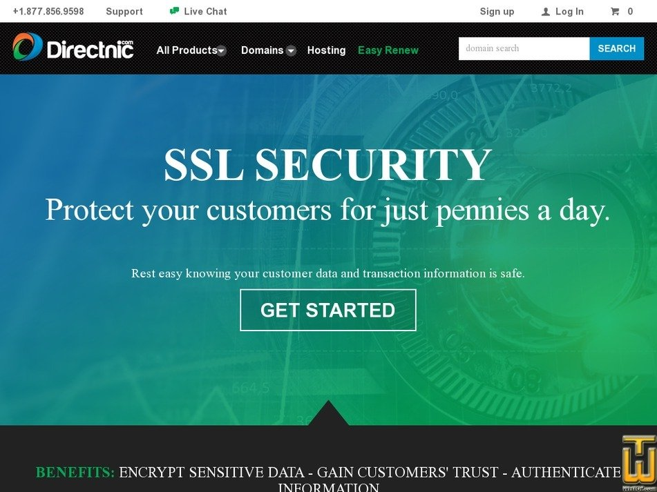 Screenshot of Wildcard SSL from directnic.com