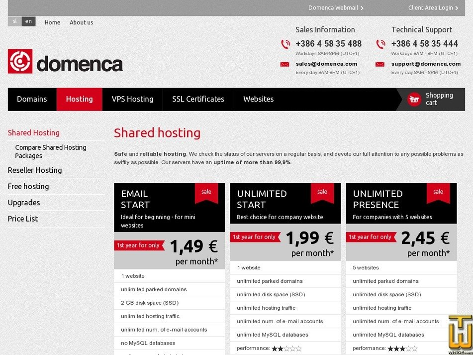 Screenshot of Unlimited Presence from domenca.com