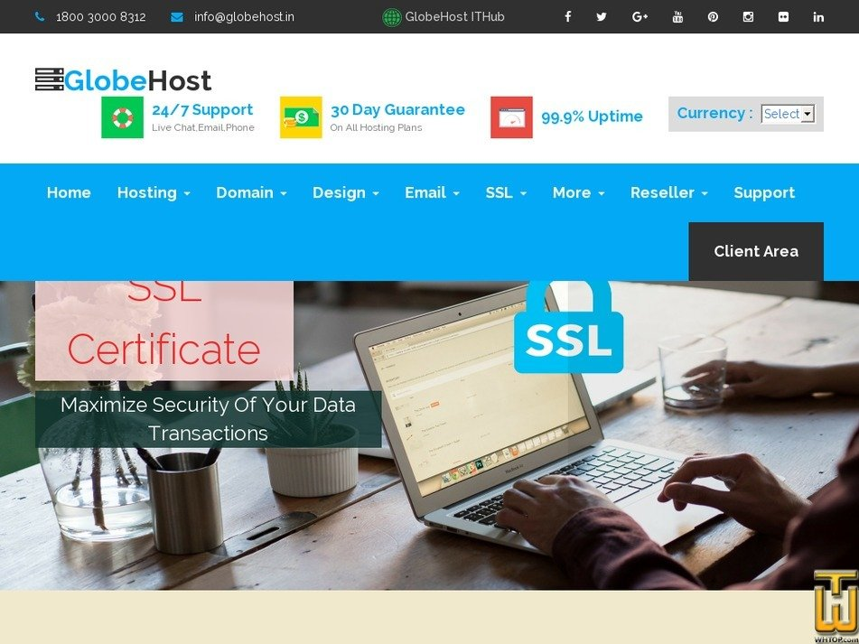 Screenshot of Comodo Positive SSL from globehost.com