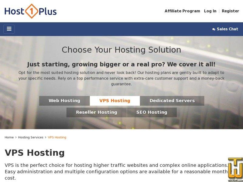Screenshot of Platinum from host1plus.com
