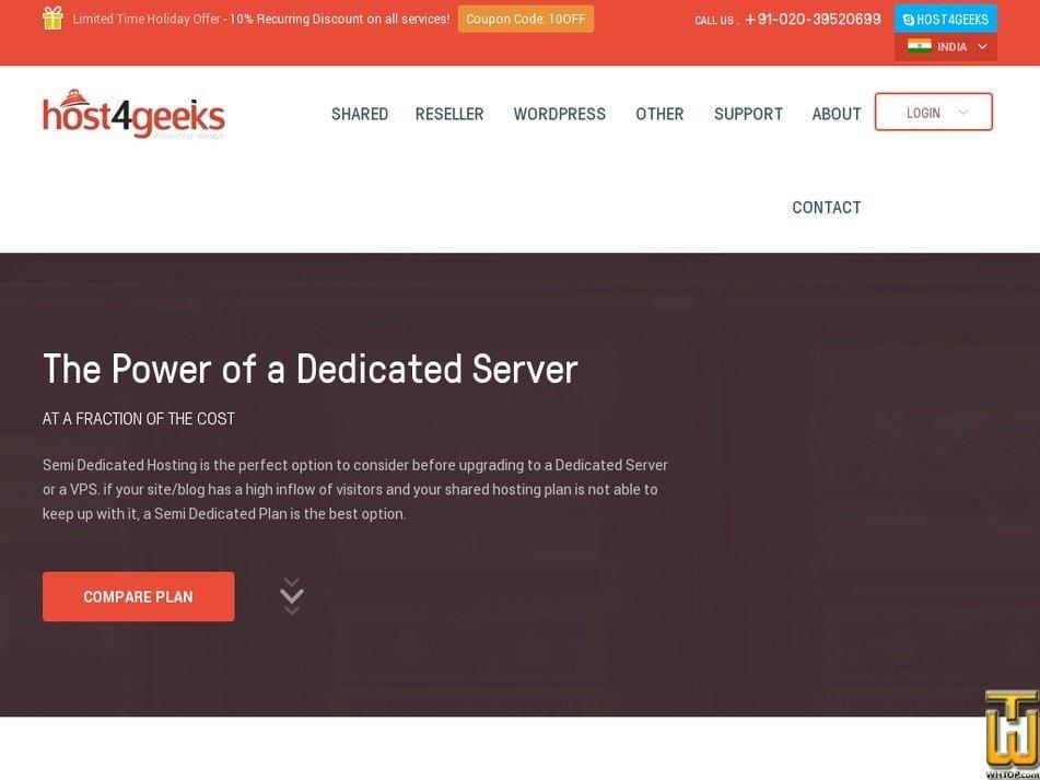 Screenshot of PLUS from host4geeks.in