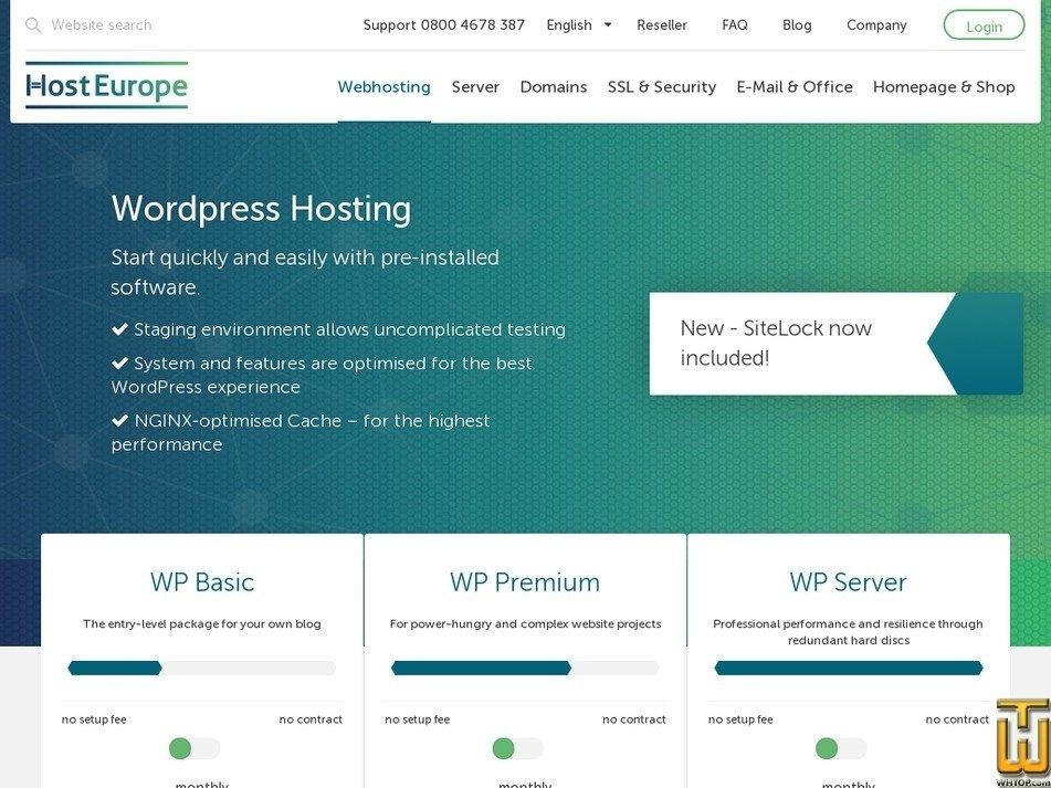 Screenshot of WP Basic from hosteurope.de