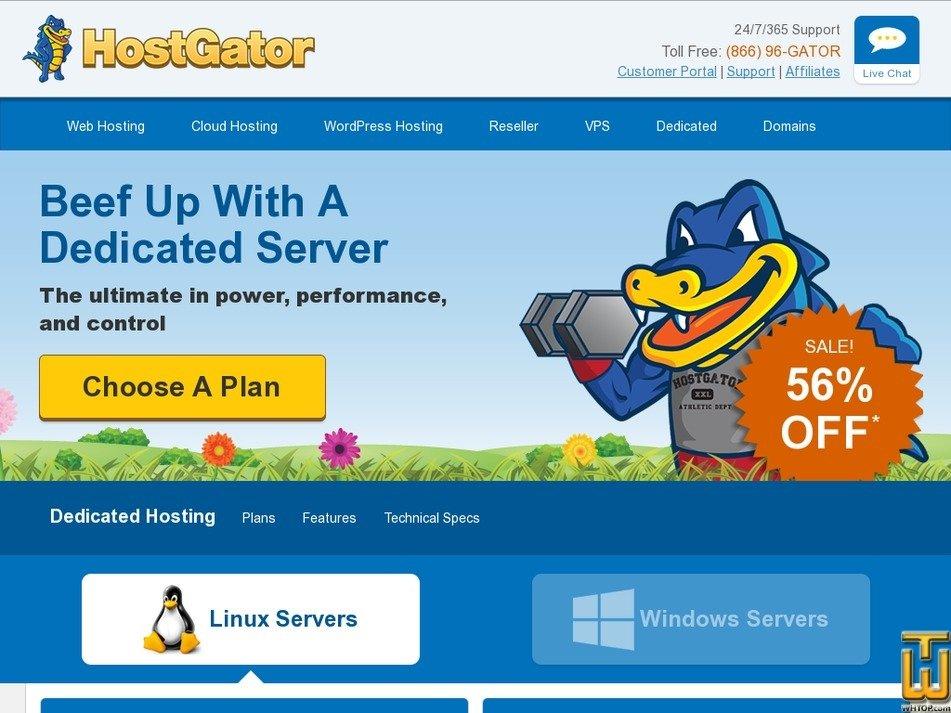 Screenshot of Basic from hostgator.com