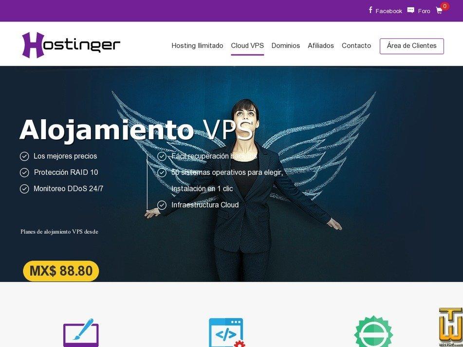 Screenshot of Plan 1 from hostinger.mx