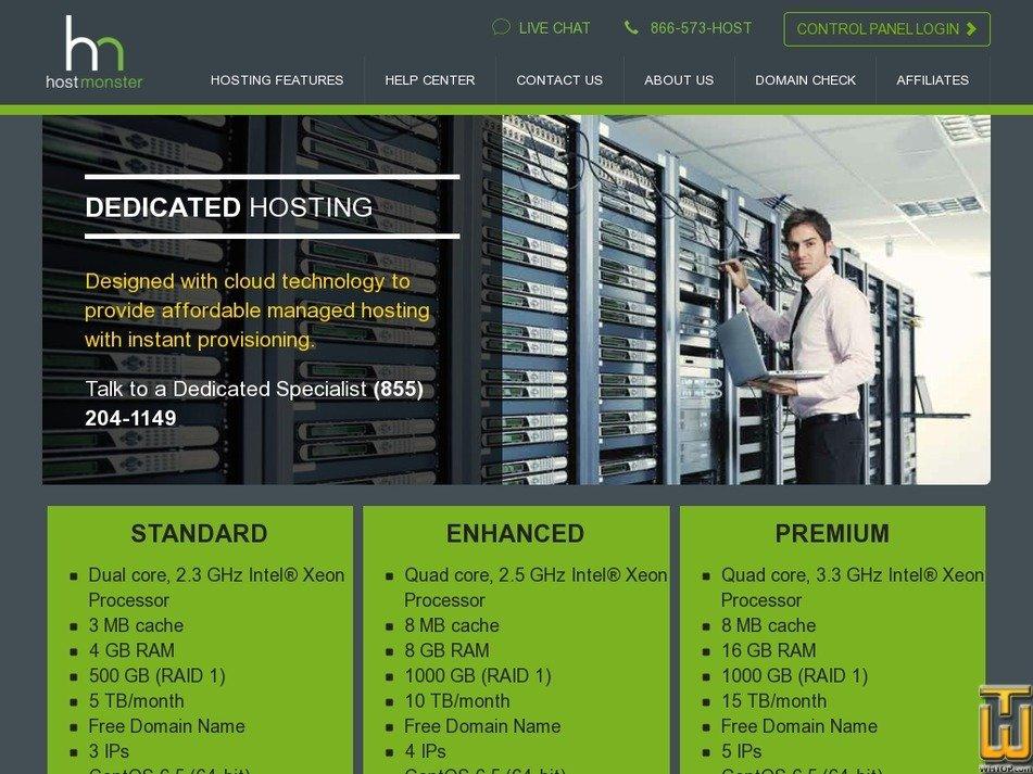 Screenshot of Standard from hostmonster.com