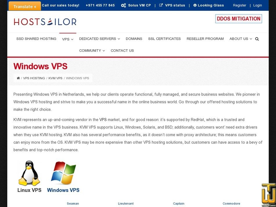 Screenshot of Captain KVM Windows from hostsailor.com