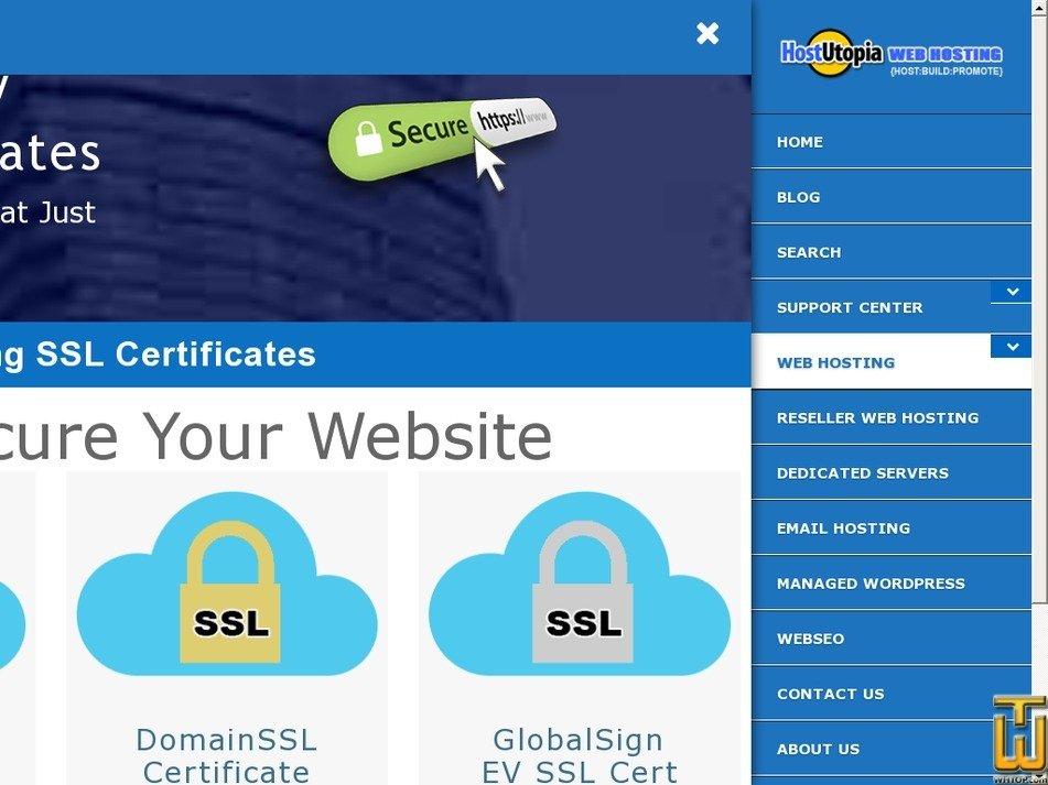 Screenshot of Standard DomainSSL from hostutopia.com
