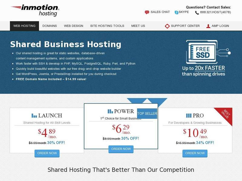 Screenshot of Power Plan from inmotionhosting.com