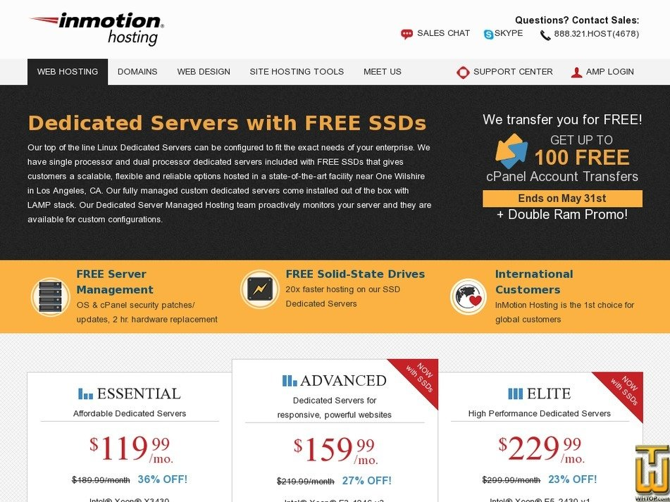 Screenshot of Essential from inmotionhosting.com