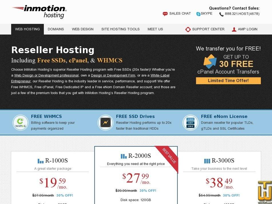 Screenshot of R-1000S from inmotionhosting.com